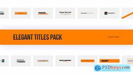 Elegant Titles Pack 32090788