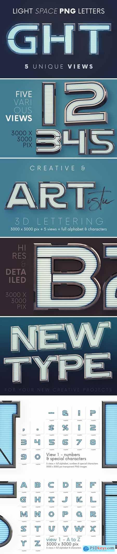 Light Space - 3D Lettering