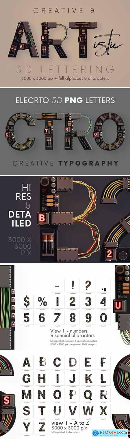 Electro - 3D Lettering