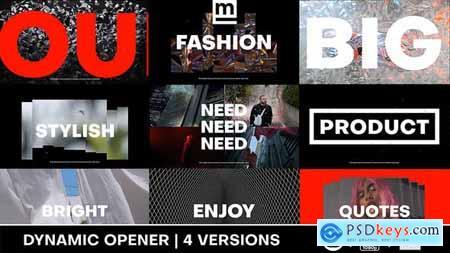 Dynamic Typography Opener 31479910