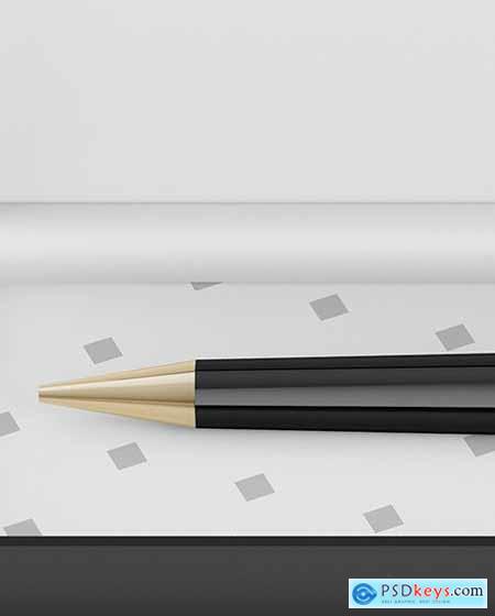Gift Writing Pen in Box Mockup 82701