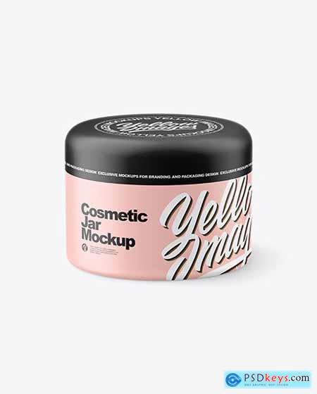 Matte Cosmetic Jar Mockup 82543