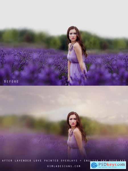 Kimla Designs - Lavender Love Photo Overlays