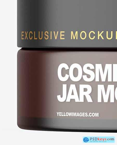 Frosted Amber Cosmetic Jar Mockup 83449