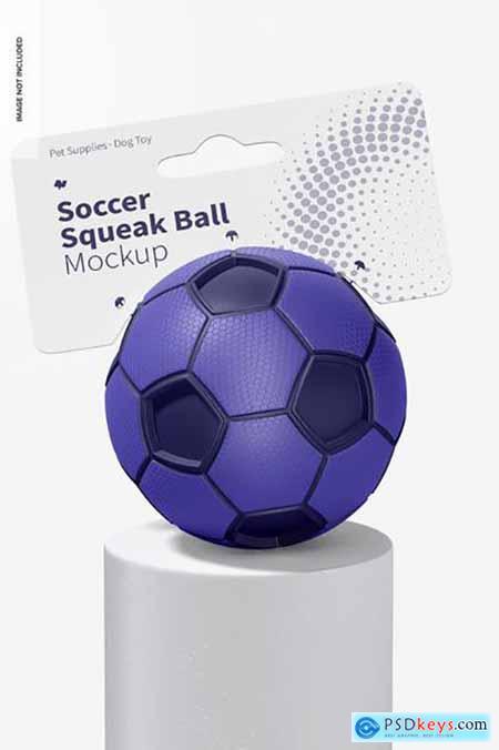 Soccer squeak balls mockup