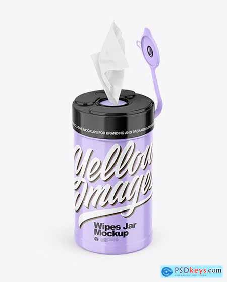 Glossy Wipes Jar Mockup 83207