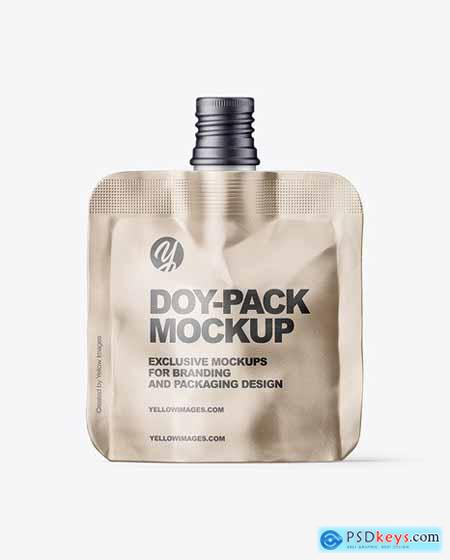 Metallic Doy-Pack Pouch Mockup 82592