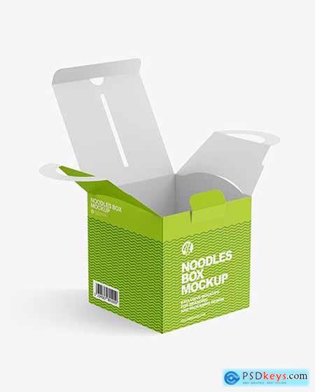 Opened Matte Noodles Box Mockup 82655