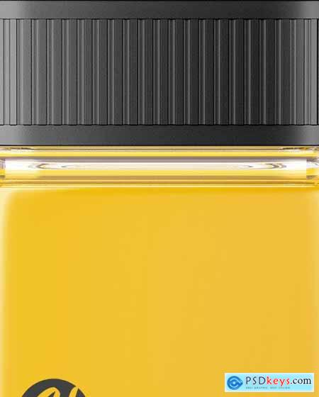 Square Orange Juice Bottle Mockup 83568