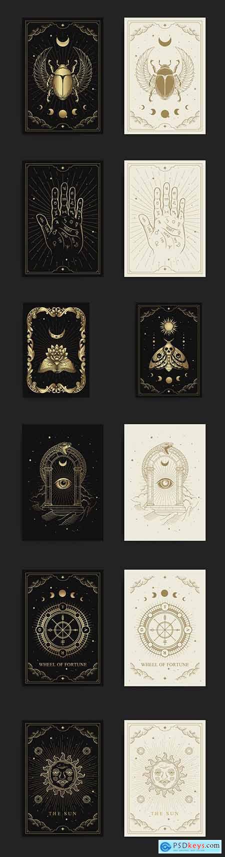 Esoteric boho style design paranormal astrologer phenomena
