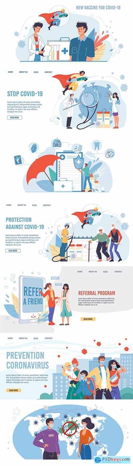 Superhero character carries coronavirus vaccine cartoon flat design