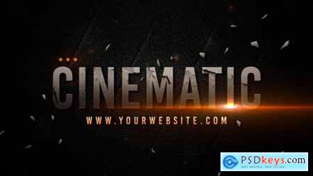 Cinematic title template text effect