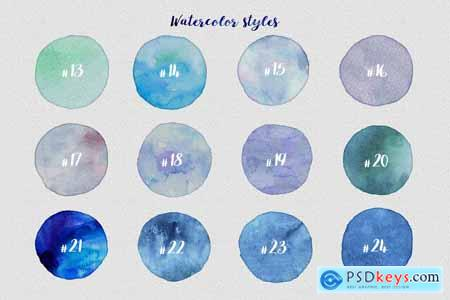 Watercolor Layer Effects, Paper Texture For Adobe Photoshop Kit 32008606
