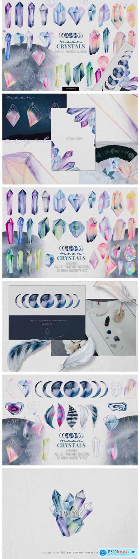 Crystals Watercolor Set 12261442