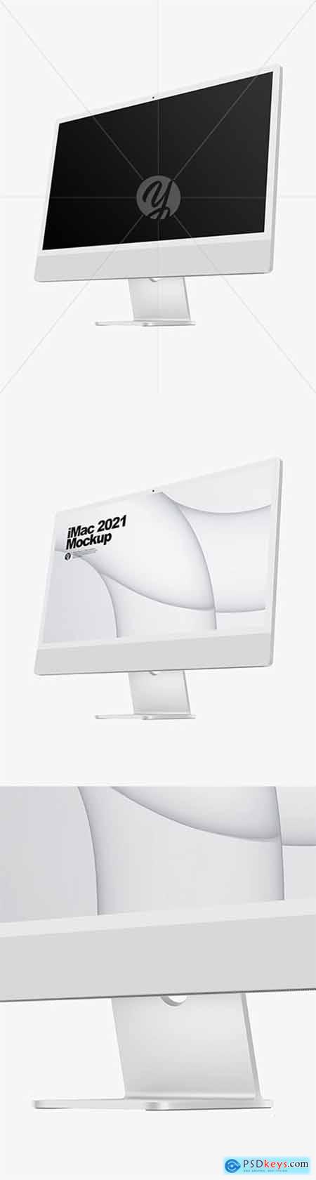 Silver iMac 24 Mockup 82255