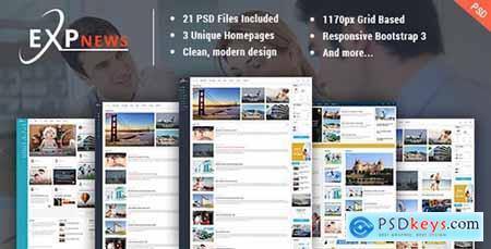 ExpNews - News & Magazine PSD Template 16486181