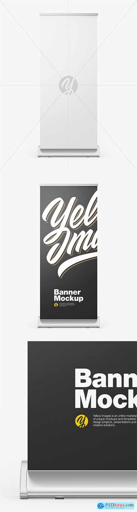 Metallic Roll-up Banner Mockup 79392
