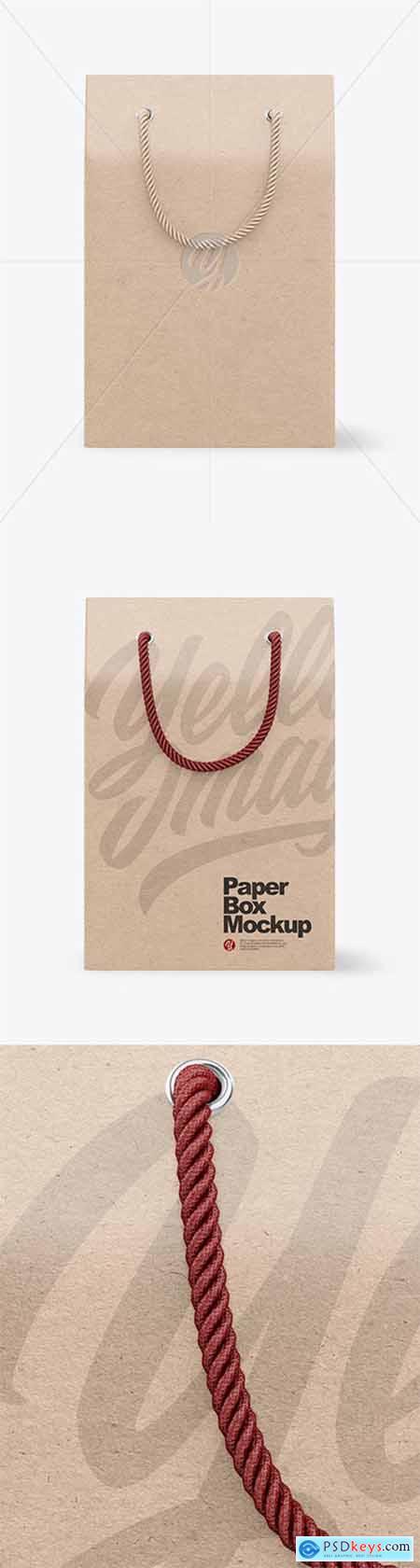 Kraft Paper Box with Handles Mockup 79364
