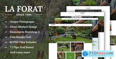 LaForat - Gardening & Landscaping Shop PSD Template 16436285