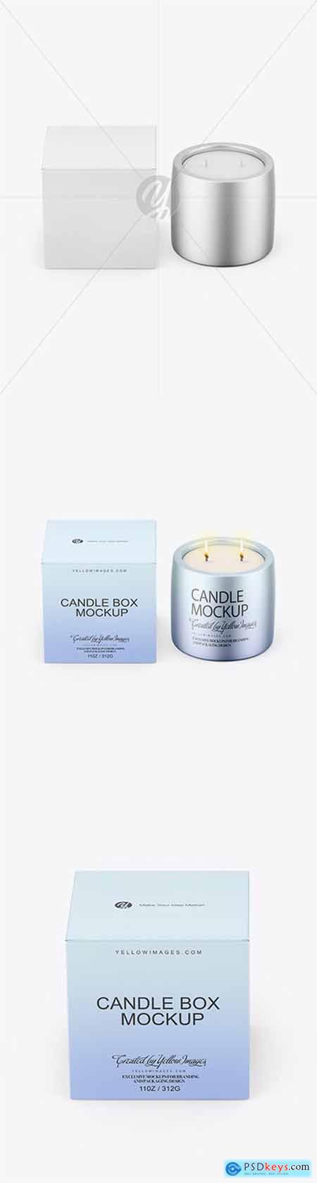 Matte Metallic Candle W- Paper Box Mockup 79651