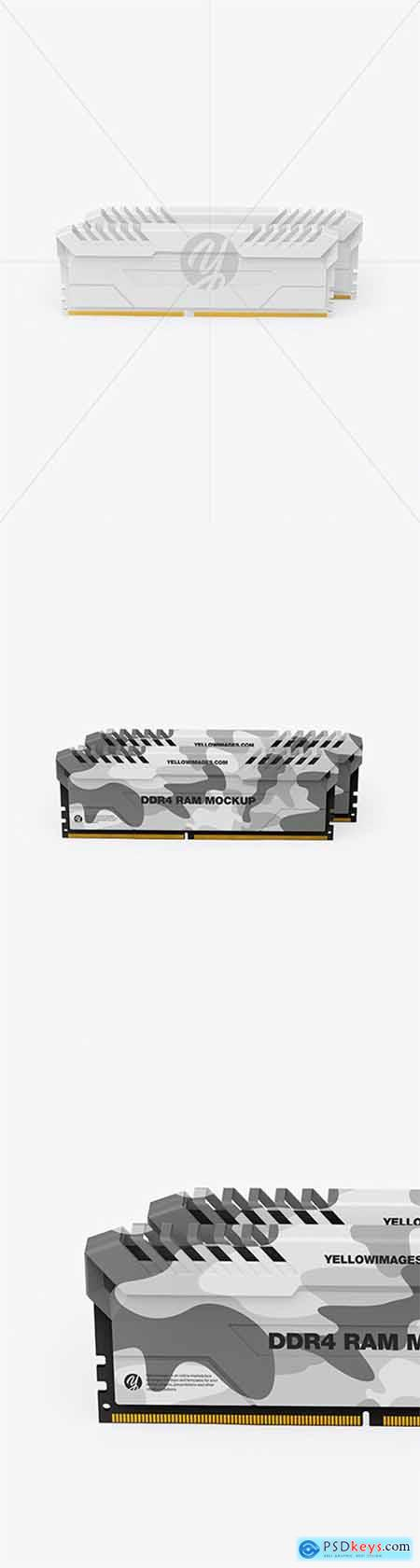 Two Modules of DDR4 RAM Mockup 79404