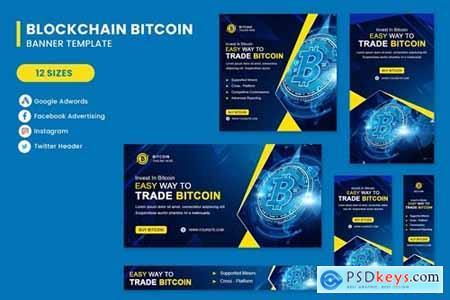 Blockchain Bitcoin Banner Set Template