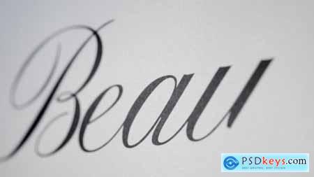 Beauty - Animated Handwriting Typeface 13788203