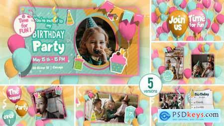 Happy Birthday invitation and Slideshow 32337846