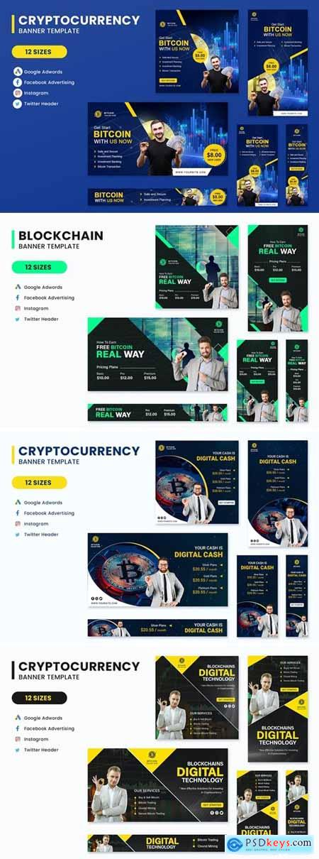 Cryptocurrency Banners Ad Set Template