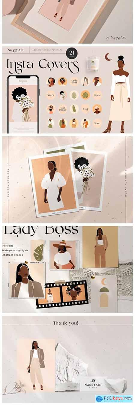 Lady Boss Woman Abstract Portraits 6452464