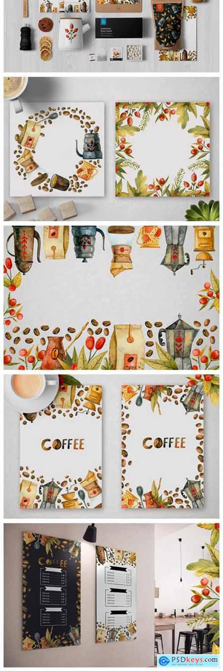 Watercolor Coffee Illustrations 7113305
