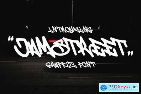 Jamstreet - Monoline Graffiti Font