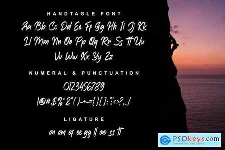 Handtagle - Handbrush Typeface