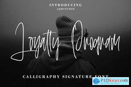 LoyaltyProgram - Calligraphy Signature Font