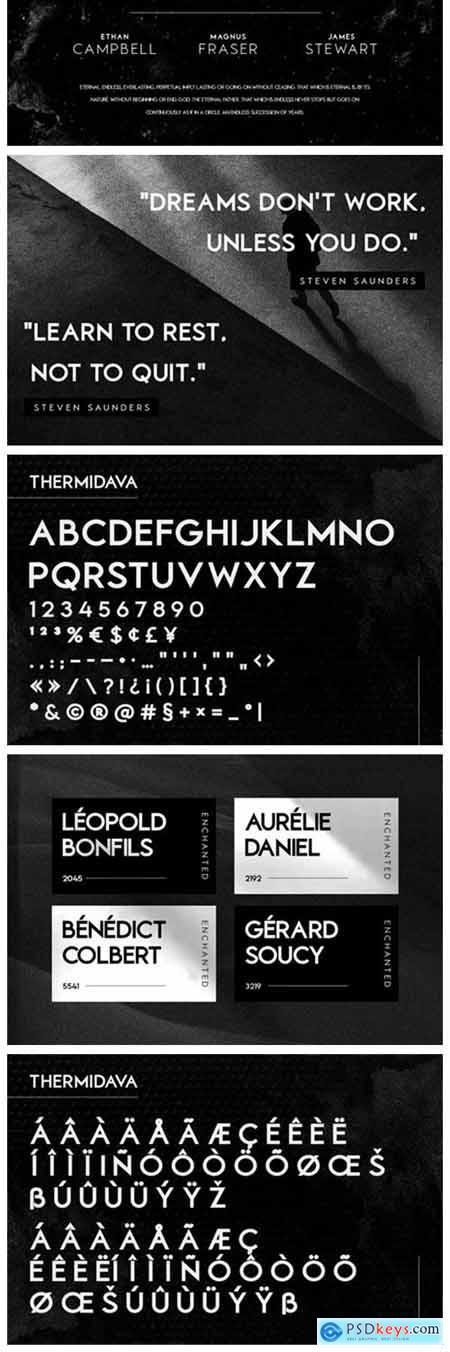 Thermidava Font