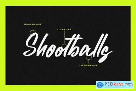 Shootballs - Handwritten Font
