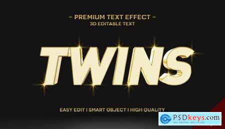 3d gold text style effect template