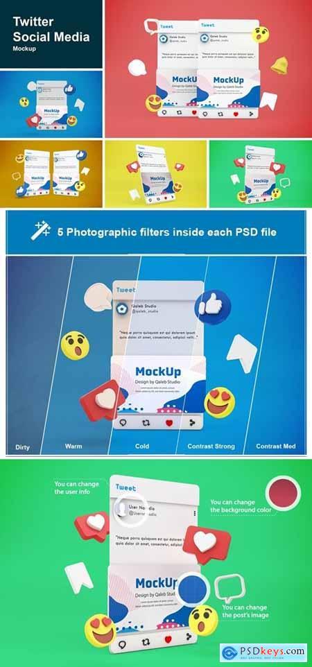 Twitter Social Media Mockup