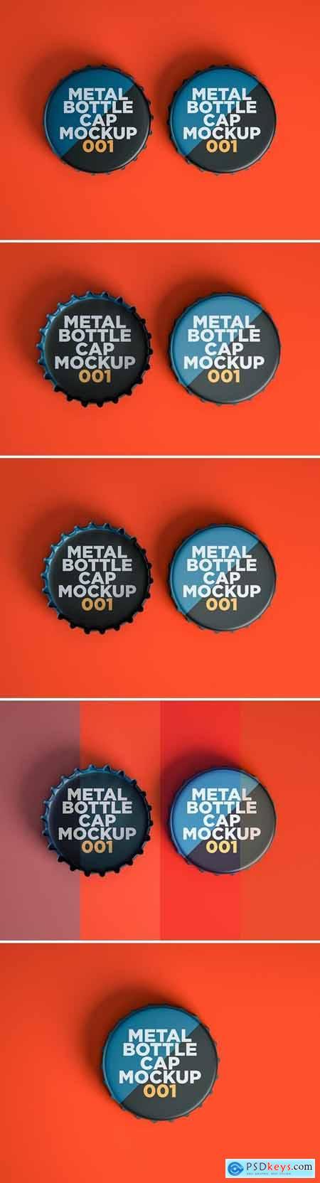 Metal Bottle Cap Mockup 001