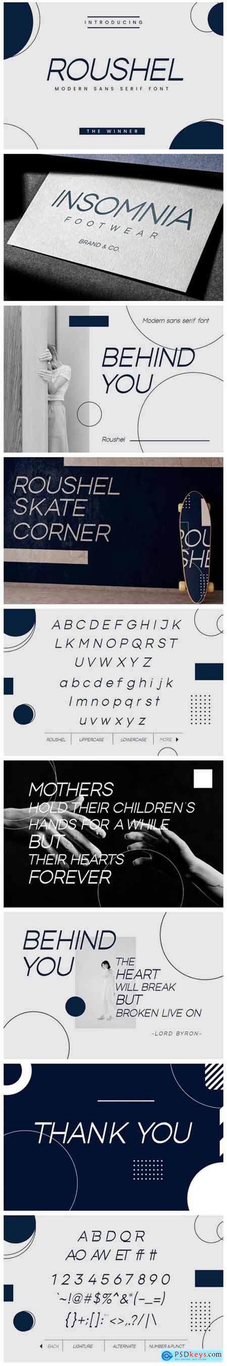 Roushel Font