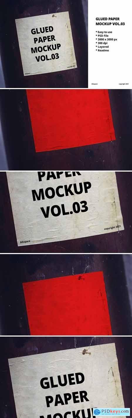 Glued Paper Mockup Vol.04