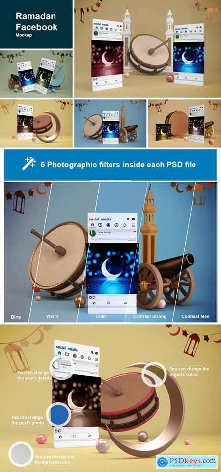 Ramadan Facebook Mockup