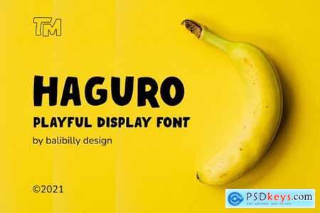 Haguro Bold Display Font