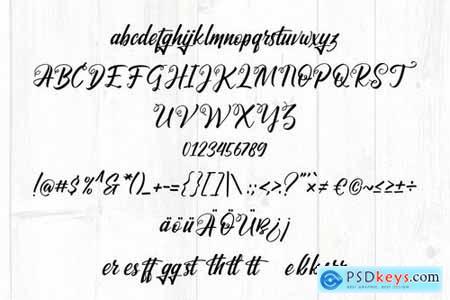 Santhyara Drybrush Handwriting Script Font