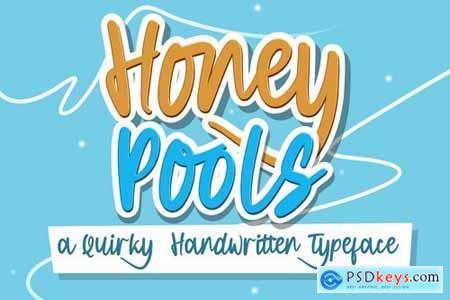 Honey Pools - Playful Typeface