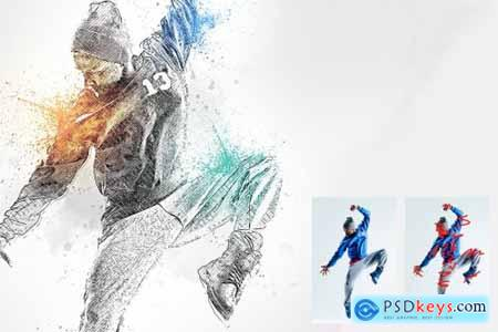 Drawing Design Photoshop Action