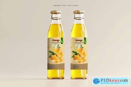 Glass beverage bottle mockup 3