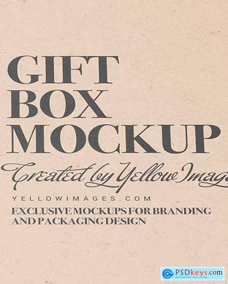 Kraft Paper Box With Cosmetic Tube Mocup 84740