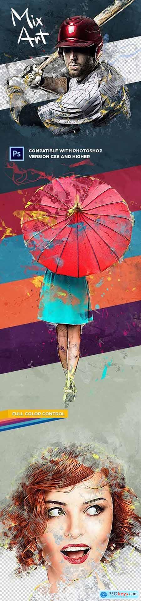 Mix Art CS6+ Photoshop Action 31305951