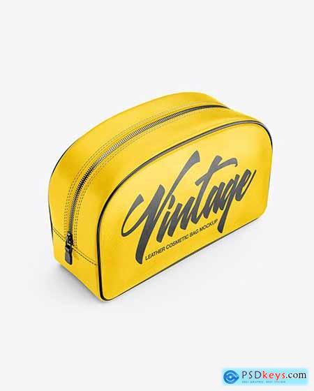 Leather Cosmetic Bag Mockup 84718